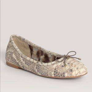 Sam Edelman Felicia Snake Print Ballet Flat Sz7.5
